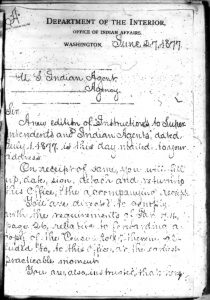 Circular calling for Supply Voucher Census Roll 1877